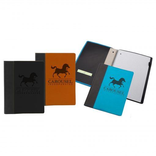 """5"""" x 7"""" Refillable Market St. Spiral Journal Notebook"""