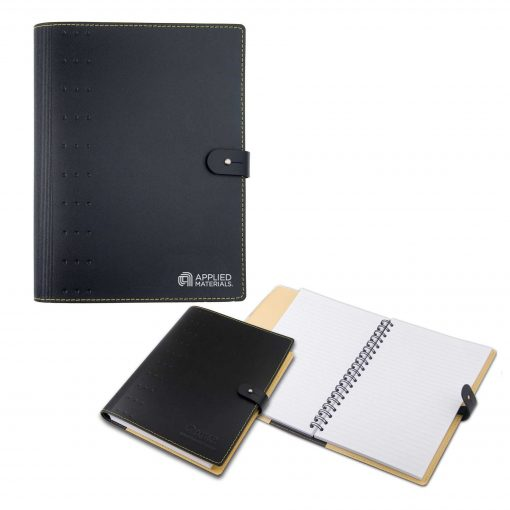 """7"""" x 10"""" Madison Avenue Leather Spiral Slip-in Refillable Journal Notebook"""
