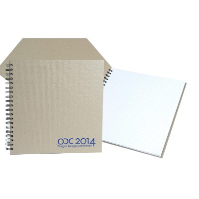 "7"" x 7"" Recycled Spiral Journal Notebook"