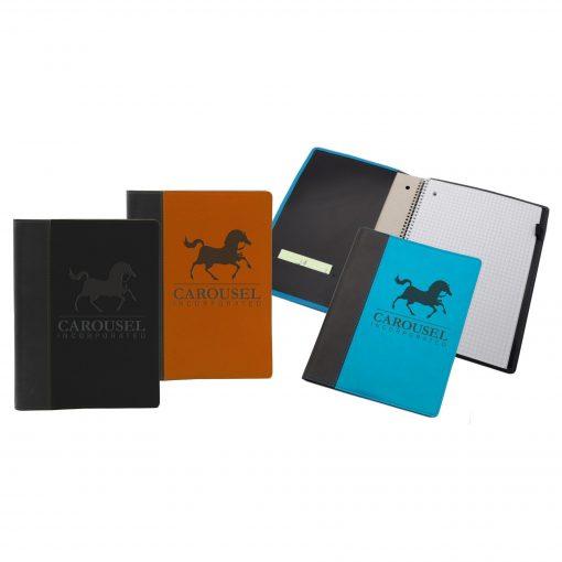 """8"""" x 10.5"""" Refillable Market St. Spiral Journal Notebook"""