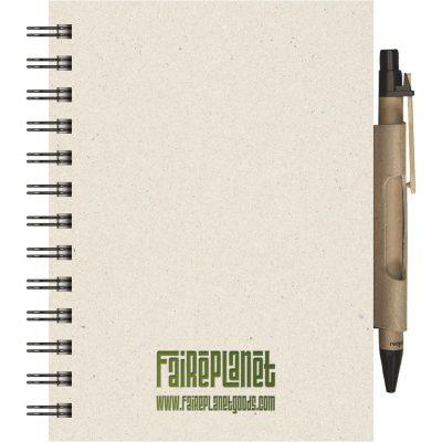 "EcoBooks EcoNotes NotePad w/EcoPort & Pen (5""x7"")"
