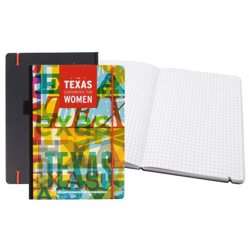 """Full Color Contempo Bookbound Journal 5"""" x 7"""" with Matching Color Elastic Closure"""