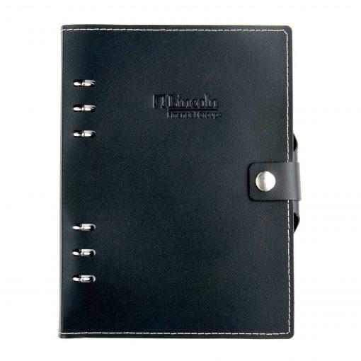 "Infinity Leather Sleek Design Journal - 5.5""x8.5"""