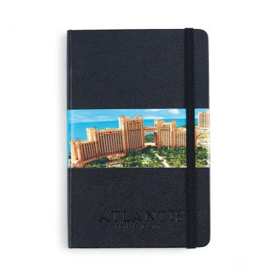 Moleskine® Hard Cover Ruled Medium Notebook - Black