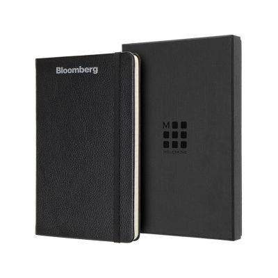 Moleskine® Leather Ruled Large Notebook - Black