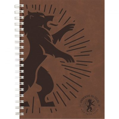 "Luxury Cover Series 4 Medium NoteBook w/Black Paperboard Back Cover (7""x10"")"