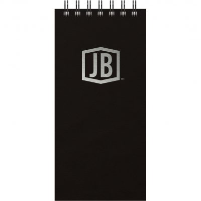 "Luxury Cover Series 4 ReporterPad w/Black Paperboard Back Cover (4""x8.5"")"