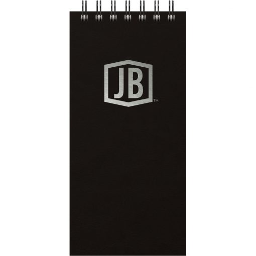 """Luxury Cover Series 4 ReporterPad w/Black Paperboard Back Cover (4""""x8.5"""")"""