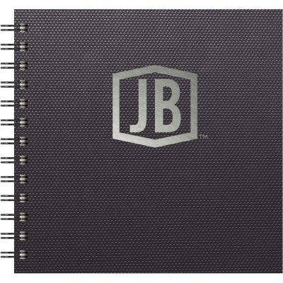 "Luxury Cover Series 4 Square NotePad w/Black Paperboard Back Cover (7""x7"")"