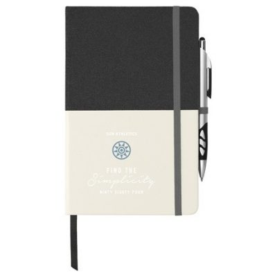 "5"" x 8"" Two Tone Bound Notebook"