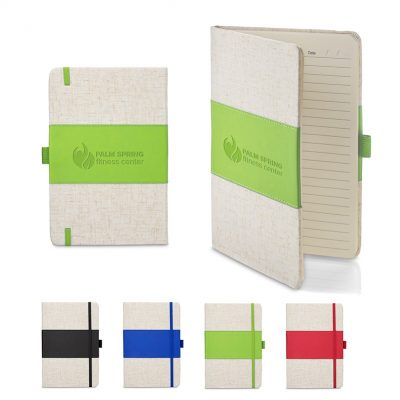 "5"" x 7"" Soft Cover PU & Heathered Fabric Journal"