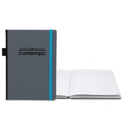 "Boardroom Contempo Bookbound Journal 5"" x 7"" with Matching Flat Elastic Closure"