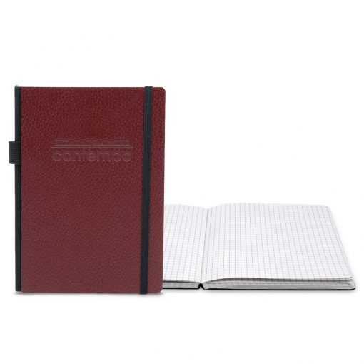 """Contempo Bookbound Leather Cover Journal 5"""" x 7"""" with Matching Flat Elastic Closure"""