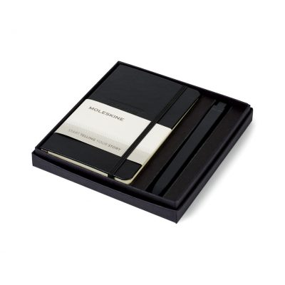 Moleskine® Pocket Notebook and GO Pen Gift Set - Black