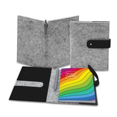 "Feltro Collection 5"" x 7"" Refillable Felt Journal Notebook"