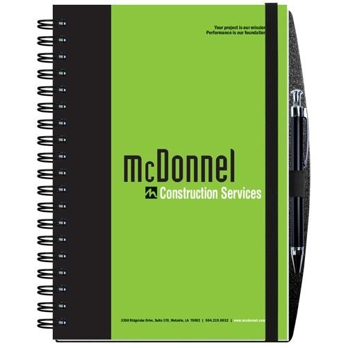 "Gloss Cover Journals w/100 Sheets & Pen (7"" x 10"")"
