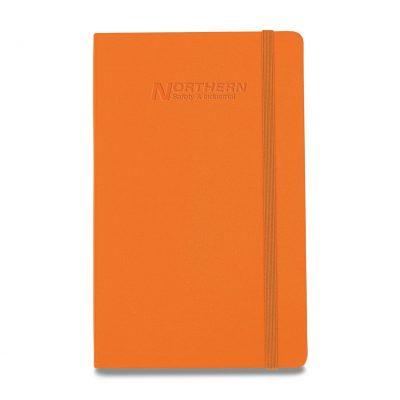 Moleskine® Hard Cover Ruled Large Notebook - True Orange