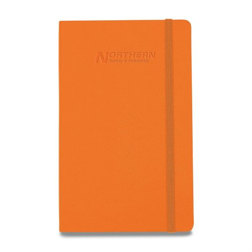 Moleskine® Hard Cover Ruled Large Notebook - True Orange