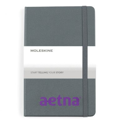 Moleskine® Hard Cover Ruled Medium Notebook - Slate Grey