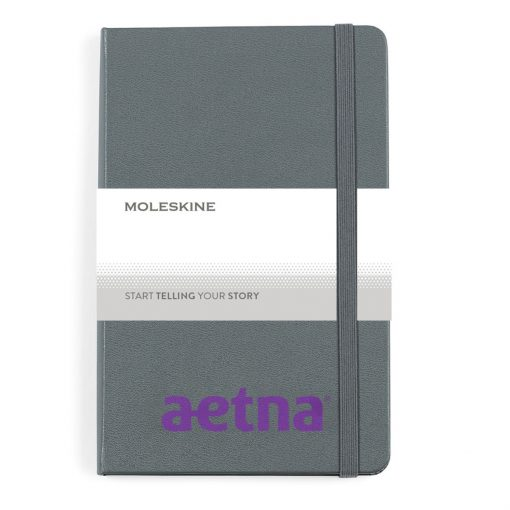 Moleskine® Hard Cover Ruled Medium Notebook - Slate Grey