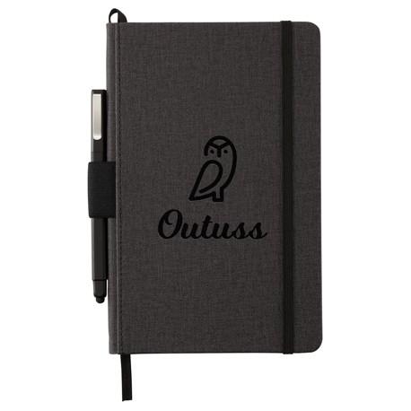 """5.5"""" x 8.5"""" Heathered Hard Bound JournalBook®"""