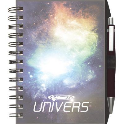 "ClearView™ NotePad Journal w/PenPort & Pen (5""x7"")"