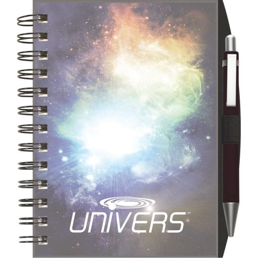 "ClearView™ NotePad Journal w/PenPort & Pen (5""x7"")"