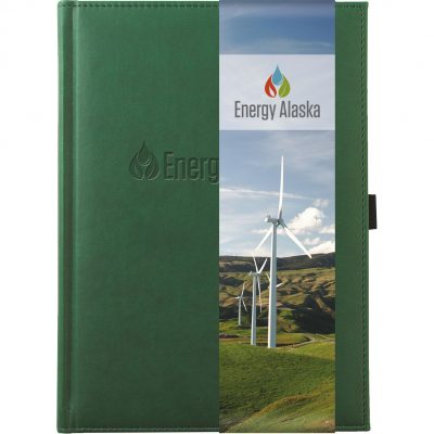 "Large Pedova™ Journal w/Full Color GraphicWrap (7""x9.5"")"