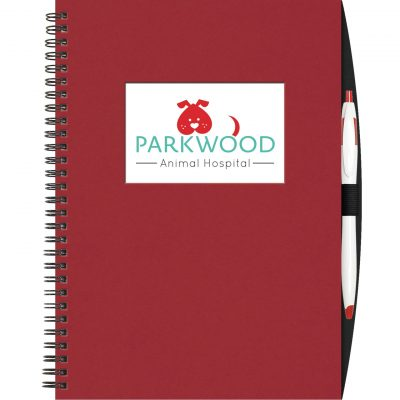 "Large Value WindowPad™ ValueLine Notebook w/PenPort & Cougar Pen (7""x10"")"