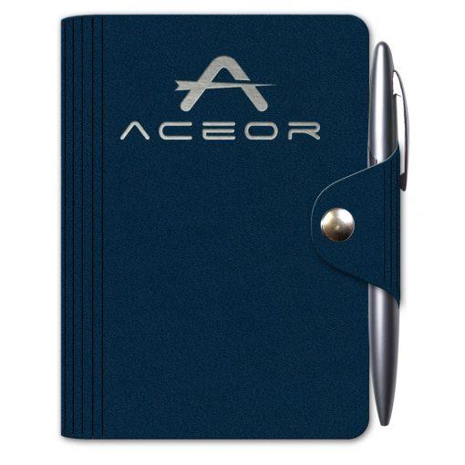 """LeatherWrap™ Mini-Snap Wrap Journal w/Pen (3.75""""x5"""")"""