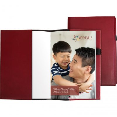 "Pedova™ Refillable Notebook w/Full-Color Tip-in Page (5.5""x8"")"