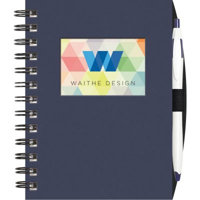 "Small Value WindowPad™ ValueLine Notebook w/PenPort & Cougar Pen (5""x7"")"