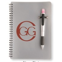 Silver Pen Highlighter Notebook Combo