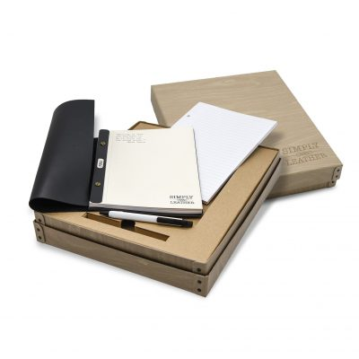 Simply Leather Desk Pad Set
