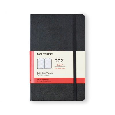 Moleskine® Hard Cover Large 12-Month Daily 2021 Planner - Black