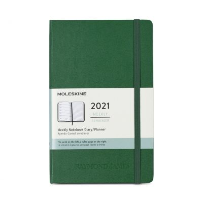 Moleskine® Hard Cover Large 12-Month Weekly 2021 Planner - Myrtle Green