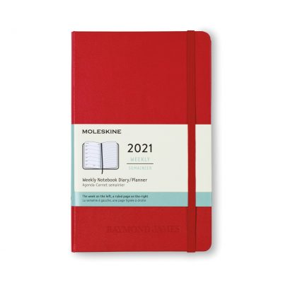 Moleskine® Hard Cover Large 12-Month Weekly 2021 Planner - Scarlet Red