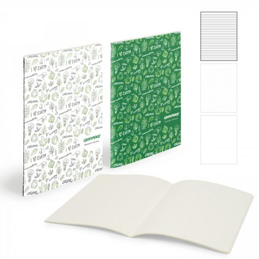 """Mighty Centre Sewn Notebook (7"""" X 9"""" With 56 Pages)"""