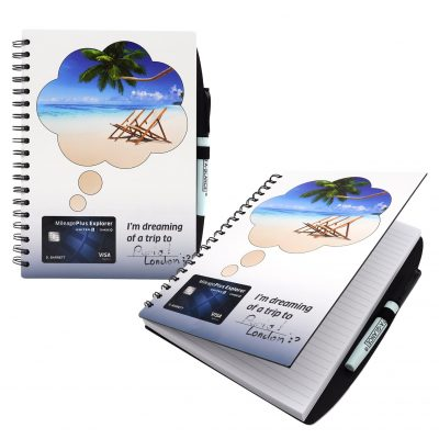 """7"""" x 9"""" Dry Erase Spiral Journal Notebook"""