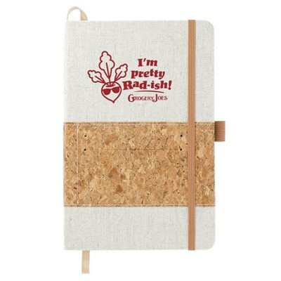 """5.5"""" x 8.5"""" Recycled Cotton and Cork Bound Notebook"""