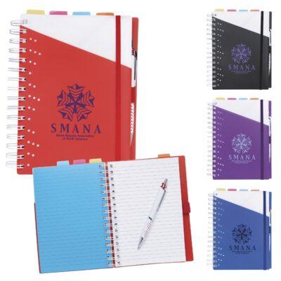 Souvenir® Notebook w/Vertex Pen
