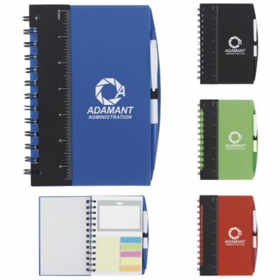 "Good Value® Ruler Notebook w/Flags & Stylus Pen (5""x7"")"