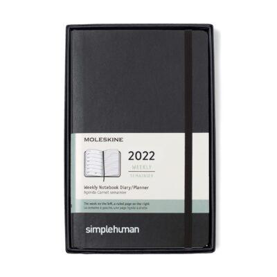 Moleskine® Soft Cover Large 12-Month Weekly 2022 Planner Gift Set - Black